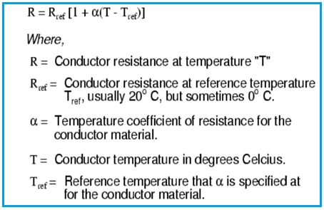Conductor Resistance Formula or equation
