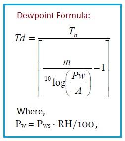 Dewpoint formula