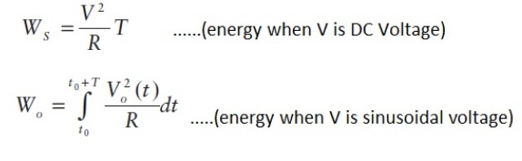 electrical energy measurement equations
