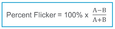 percent flicker
