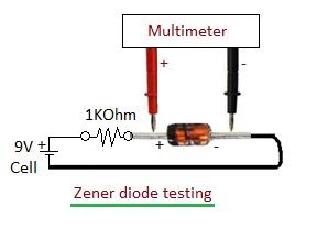 zener diode testing setup